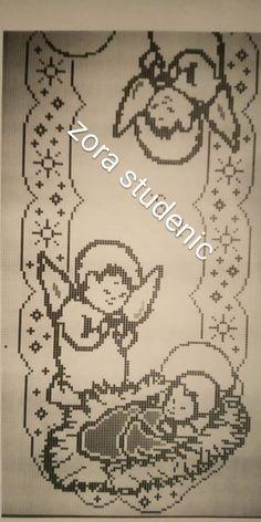 Crochet Placemats, Crochet Doilies, Crochet Shawl, Crochet Angel Pattern, Filet Crochet Charts, Free Crochet, Chicken Scratch Embroidery, Christmas Runner, Doilies Crochet