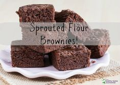 This sprouted flour brownies recipe is easy, delicious, and beats regular brownies in nutrition and a taste your family will love.