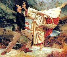 """""""The Heather On The Hill"""" and """"I'll Go Home With Bonnie Jean"""" are my favs.  I also love the chasing down of poor Harry Beaton. Gene Kelly & Cyd Charisse in Brigadoon, 1954"""