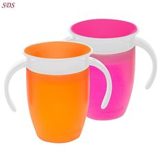 360 Sippy Cup Munchkin Miracle Pink / Orange No Spills DENTIST APPROVED New F/S  | Baby, Feeding, Cups, Dishes & Utensils | eBay!
