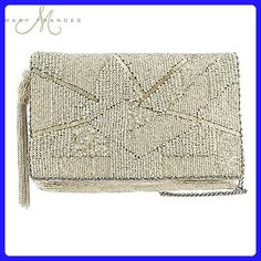 MARY FRANCES Silver Lining Beaded Cross-body Clutch - Crossbody bags (*Amazon Partner-Link)