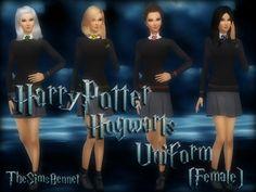 TheSimsBennet's Hogwarts Uniform (Female) Set