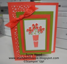 Stamp with Susie: A vase of flowers......