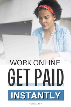 We'll show you 21 ways to work online and get paid instantly. Work from home full time or part-time and get paid quickly. Stop waiting around for your money, it's time to find a side hustle that will let you make extra money quickly. Survey Websites, Survey Companies, Online Jobs From Home, Online Work, Way To Make Money, Make Money Online, Weekly Pay, Unique Jobs