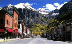 Telluride, Colorado - such a gorgeous little ski town.what a great ski trip it would be! Telluride Colorado, Colorado Mountains, Rocky Mountains, Telluride Bluegrass, Colorado Trip, Colorado Rockies, Oh The Places You'll Go, Great Places, Places To Travel