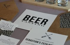 {manly beer tasting party invitations   free printables}