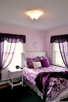 Purple cool rooms hall green menu teen bedroom free girls bedrooms ideas the best on with blue and pur Purple Bedroom Design, Purple Bedrooms, Luxury Bedroom Design, Teen Girl Bedrooms, Teen Bedroom, Bedroom Colors, Ladies Bedroom, Bedroom Themes, Bedroom Decor