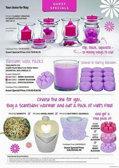 Fab May offers message for info Cherry Blossom, Tea Lights, Berries, Wax, Candles, Apple, Creative, Apple Fruit, Tea Light Candles