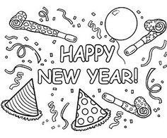 printable winter coloring pages new year