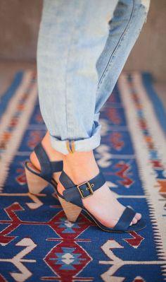 chunky yet delicate heels