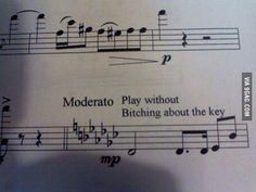 This passive-aggressive direction. | 18 Things That Are Only Funny To Musicians