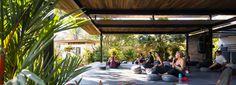 studio saxe crafts jungle yoga pavilion for 'nalu nosara' hotel in costa rica