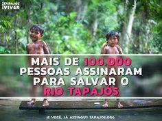 GALERINHA INFANTIL: Chamada de ação mundial para salvar o Rio Tapajós