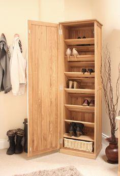 new for 2104 the mobel oak tall shoe cupboard perfect hallway storage shoe storage