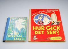 Muumi-kirjoja 2 kpl, toinen omistuskirjoituksella. Tove Jansson, Cover, Books, Design, Art, Art Background, Libros, Book, Kunst
