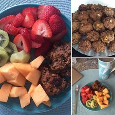 My #favorite #breakfast - #fresh fruit  homemade #vegan protein bites. Yum!! Baked a fresh batch of these this morning!   #yum #yummy #vegan #veganfood #veganbreakfast #veganeats #veganlife #fruits #fruit #homemade #homemadefood #baking #nosugar #sugarfree #sugarfreelife #delicious #nutricious #breakfast #visualsoflife #hunterphoenix