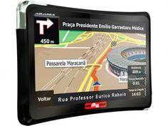 """GPS Automotivo Quatro Rodas Aquarius Tela 4,3"""" - Touch Screen Alerta de Velocidade com as melhores condições você encontra no Magazine Valiosoinfocel. Confira! em até 6x de R$ 33,32 sem juros no cartão de crédito"""