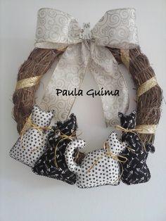 Guirlanda Quarteto Felino (preto e branco)