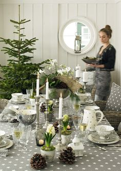 A silver and evergreen twist on holiday decor. No need to overcomplicate things.