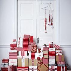 Kerstpakjes in een origineel kleedje  (geïnspireerd by Ikea)