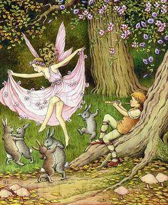 fairy, art, and illustration image Elfen Fantasy, Fantasy Art, Art And Illustration, Kobold, Fairy Pictures, Arte Sketchbook, Vintage Fairies, Fairytale Art, Flower Fairies