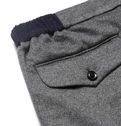 Kolor Slim-Fit Brushed Wool and Cashmere-Blend Trousers Men Trousers, Work Trousers, Trouser Jeans, Chino Shorts, Joggers, Sweatpants, Baby Pants, Fashion Details, Menswear