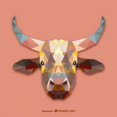 Conception triangle de vache