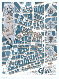 Mapas de los barrios de Barcelona x Walk with me (más info en el link)