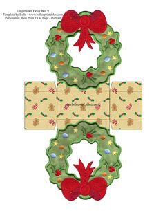 Free Gingertown Favor Boxes Wreath Box
