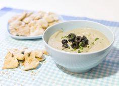 Crema de berenjenas con galletas de sésamo para #Mycook http://www.mycook.es/cocina/receta/crema-de-berenjenas-con-galletas-de-sesamo