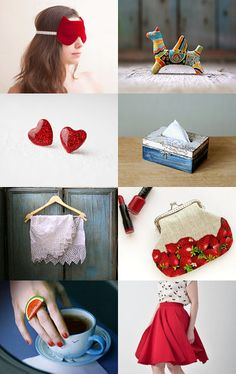 red and blue summer finds by Lera and Vladimir on Etsy--Pinned with TreasuryPin.com