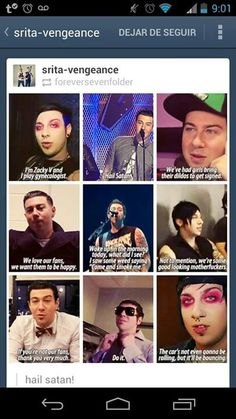 He aint serious with the satan thing, notice he said thanks to the people who are NOT fans. If you dont love Zacky V. You have no heart.