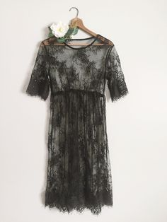 f00f621a64cb6 Image of Lola | maternity gown Black Lace Gown, Black Bra, Black Laces,