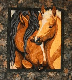 Pride & Joy Toni Whitney Horse Quilt Pattern and Fabric Kit Applique Mare Foal