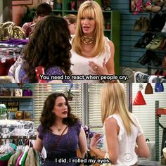 2 broke girls, Hilarious! and props to Kat Dennings for rocking her big hair and big rack!! LOve them!