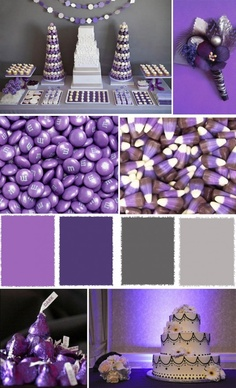 grey and purple wedding