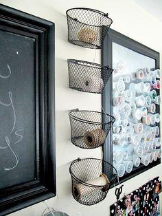Small Sewing Room Organization Ideas   Sew Many Ways...: Thrifty Thursday...String Storage