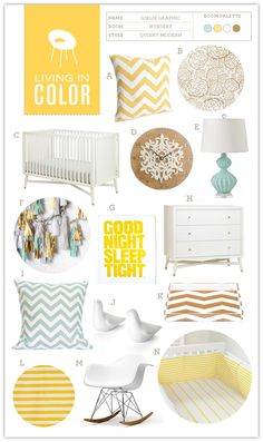 Yellow Nursery...this would be so pretty with the gray walls of our guest room (which will eventually be a nursery).