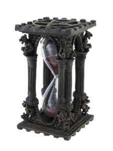 Gothic #Pentacle 5 minute glass timer (hourglass)