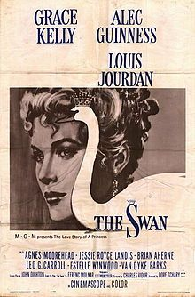 The Swan is a 1956 remake by MGM of a 1925 Paramount film with the same title. (Another film version had been made in 1930 as One Romantic Night). The film is a romantic comedy directed by Charles Vidor, produced by Dore Schary from a screenplay by John Dighton based on the play by Ferenc Molnár. The film stars Grace Kelly, Alec Guinness and Louis Jourdan with Agnes Moorehead, Jessie Royce Landis, Brian Aherne, Leo G. Carroll, Estelle Winwood and Robert Coote.