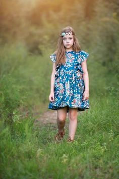 Odette pattern; Dress made by Because of Brenna; Fabric by Art Gallery Fabrics
