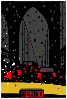 """""""When I arrived in New York for the first time, it was pouring,"""" the German artist Christoph Niemann says. """"Maybe that's why, to my mind, there's no place on earth where being stuck in traffic on a rainy day is more beautiful."""""""