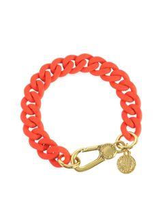Marc by Marc Jacobs - Orange Glow Rubber Chain Bracelet