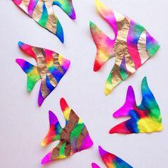 Coffee Filter Rainbow Fish (Kids Craft) …