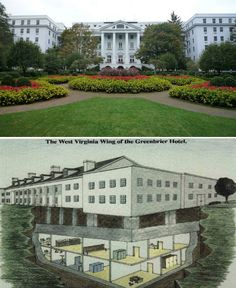 One of the most notable examples of secret government architecture that have already been revealed is the bunker at The Greenbrier, a luxury resort in West Virginia. Code-named 'Project Greek Island', the massive underground bunker beneath Greenbrier was built to serve as an emergency shelter for members of the United States Congress during the Cold War.