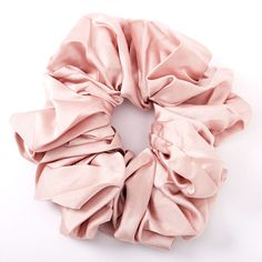 Giant Satin Hair Scrunchie - Blush Pink, Pink Satin, Blush Pink, Stretch Satin, Vintage Bags, Scrunchies, Pretty In Pink, Ponytail, Your Hair, Totes