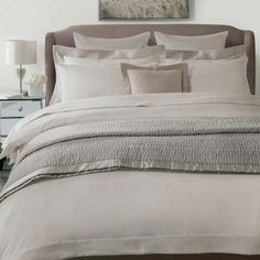 Hotel Taupe Pintuck 300 Thread Count Bed Linen Collection