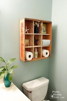 Another great idea for storage in a small bathroom
