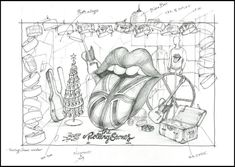 """Barneys window display sketches 