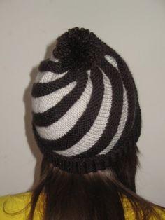 Women and Teen Chocolate Swirl Knitted Hat by KnittedForEwe